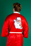 Jolly Red Santa Christmas Kimono for Guys
