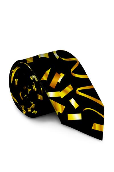 The Gold Eruption | Gold Confetti New Years Eve Tie