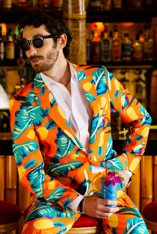 Orange Hawaiian Suit for men
