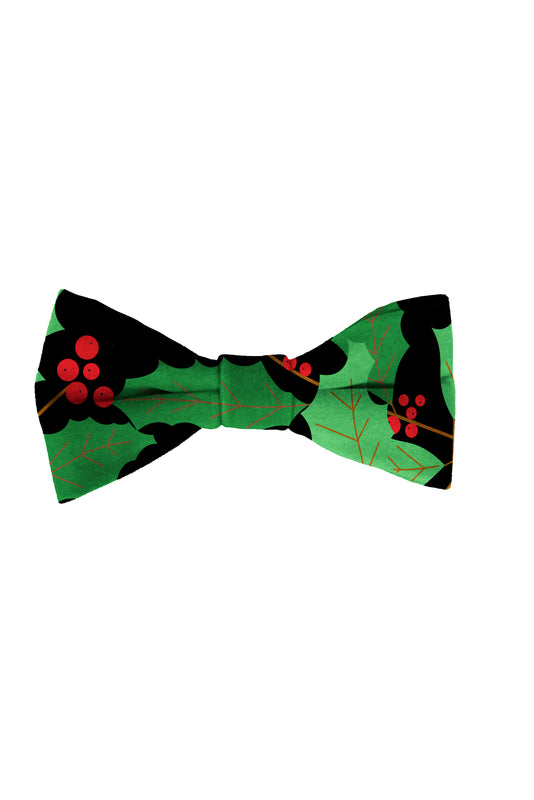The Deck Yourselves | Holly Print Christmas Bow Tie