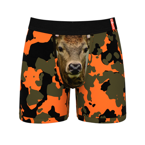 Men's deer print ball hammock boxer briefs