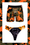 Deer and black lab ball hammock boxer and thong pack