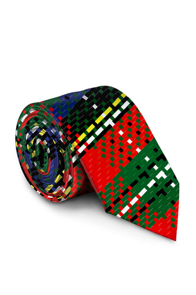 shinesty red plaid christmas neck tie