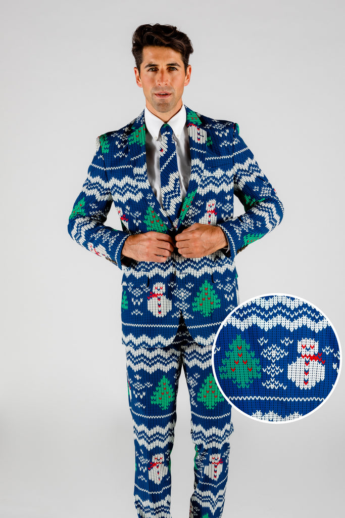 The Eggnog Aficionado | Snowman Print Christmas Suit