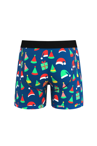 The Little Helpers | Elf Print Ball Hammock Boxer Briefs