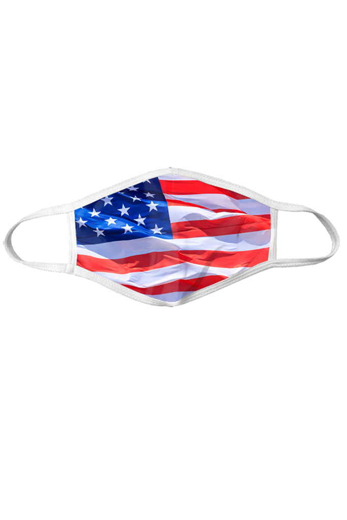 The 'Merica | American Flag Printed Face Mask