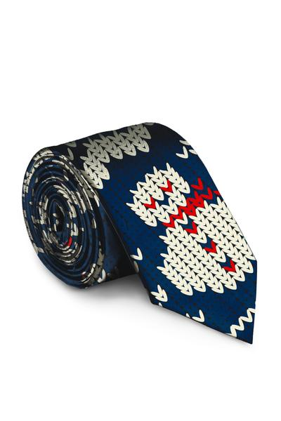 Winter Blue Snowman Print Festive Holiday Tie