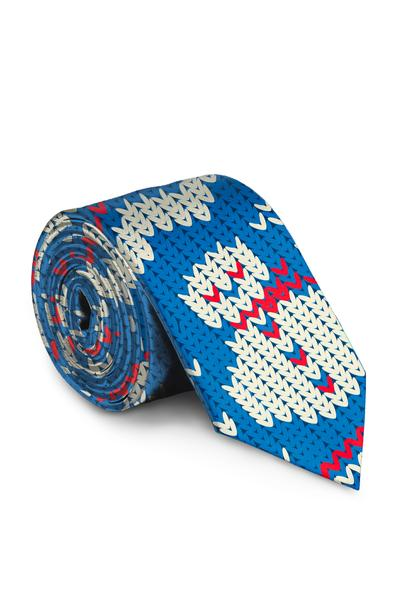 The Frosted Tips | Light Blue Snowmen Tie