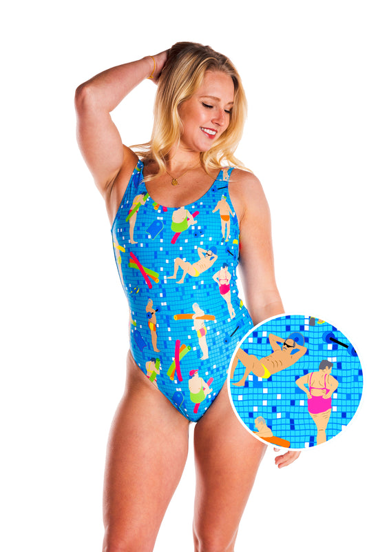 Blue one piece for women