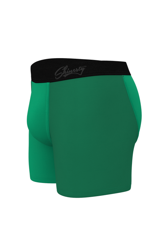 Shades of green ball hammock boxers