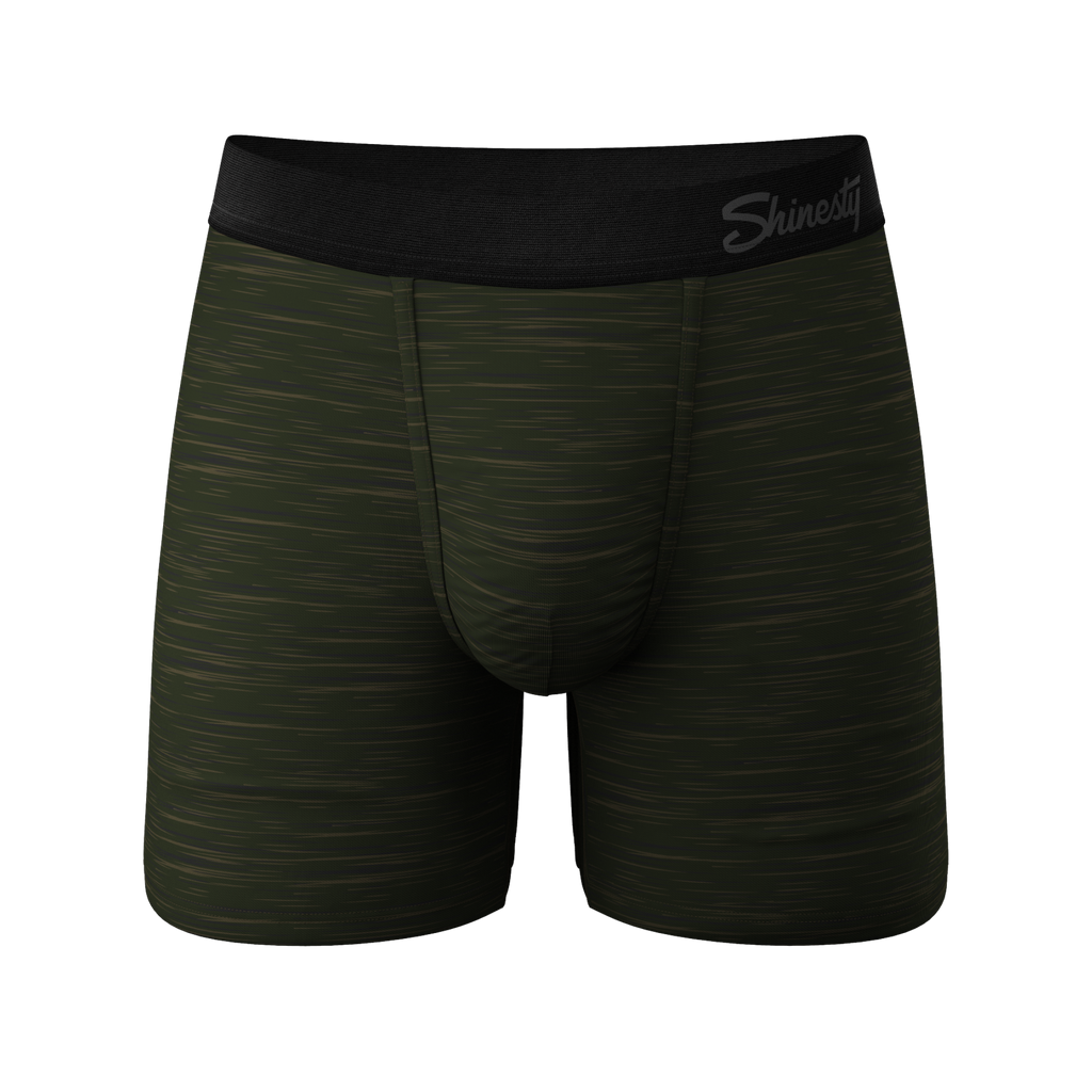 The Gumby | Green Space Dye Ball Hammock Boxer Briefs