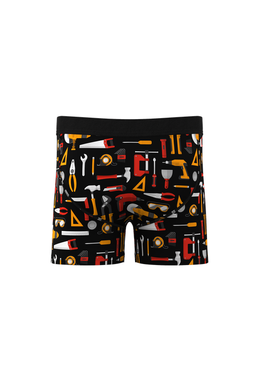 The Hammer Time Jr. | Tool Print Boxer Briefs For Boys