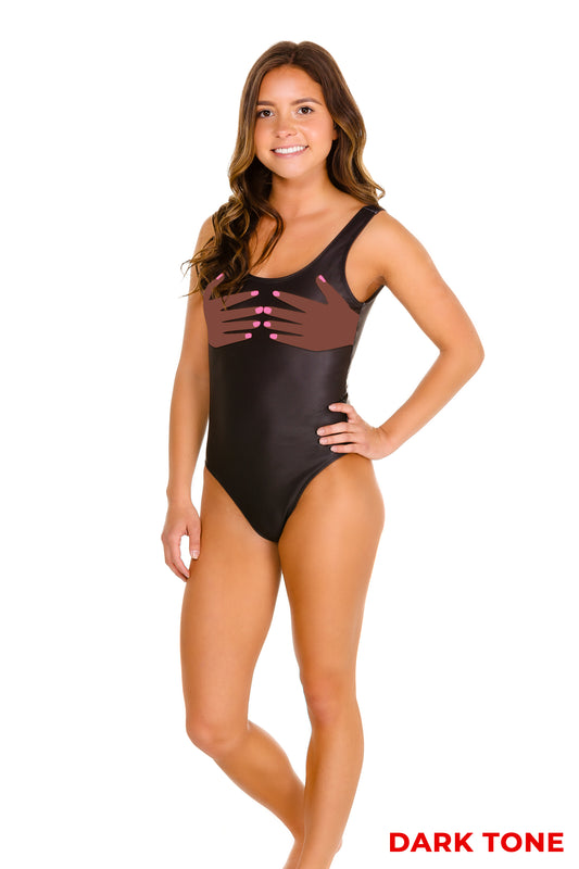 The Feeling Handsy | Black One Piece Swimsuit
