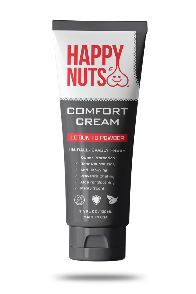 Happy Nuts Comfort Cream | Sweat Defense And Odor Control Lotion