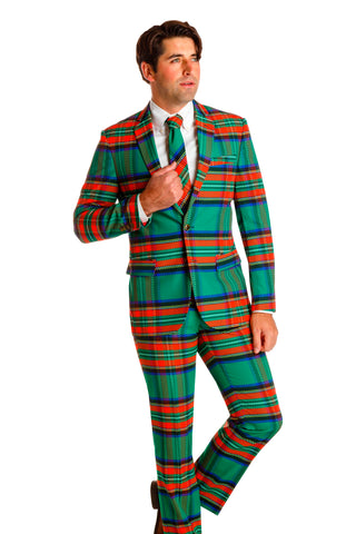 plaid christmas suit for men
