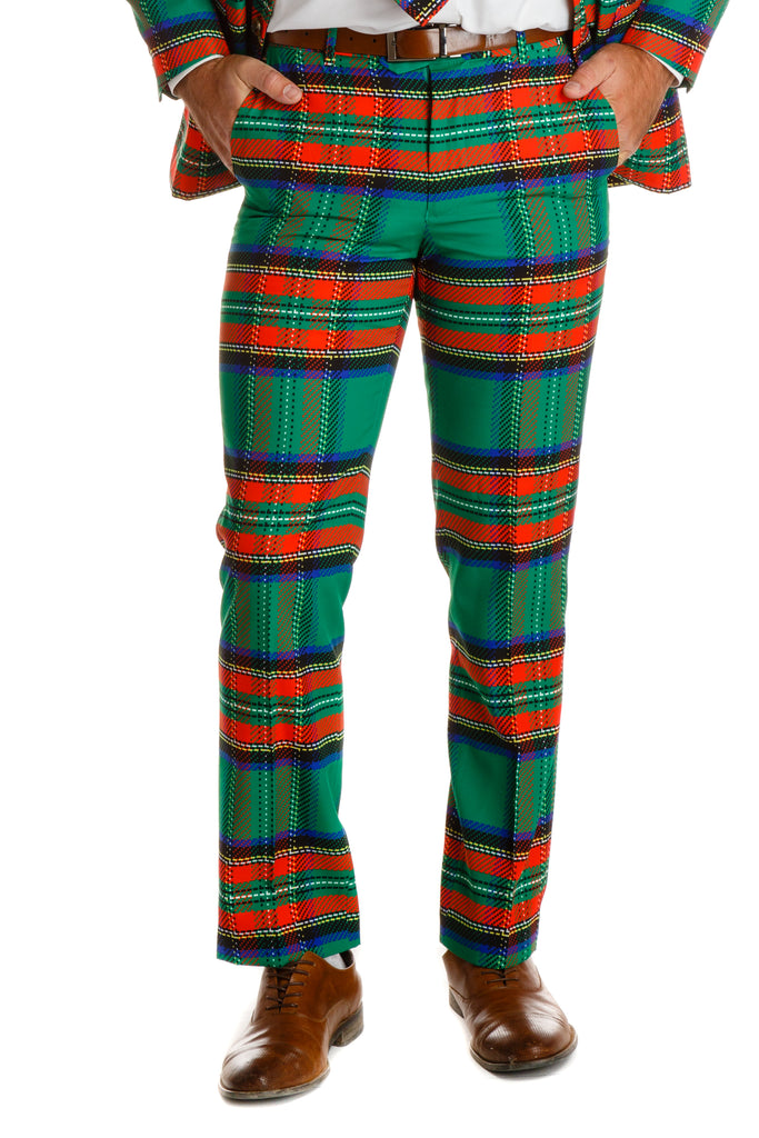 The Dirty Dangerfield | Green Plaid Christmas Pant