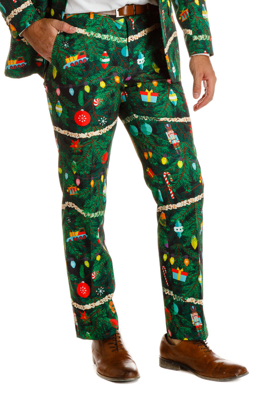 festive holiday ugly xmas ornament pants for guys