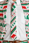 The Polar Bear Bandito | Green And White Fair Isle Christmas Tie