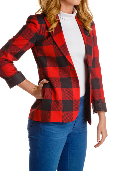 Lumberjack Boyfriend Blazer for Women