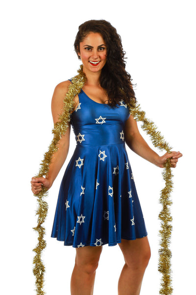 The Hanukkah Mensch Star of David Dress - Shinesty