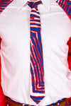 The Zoobra By Zubaz | Red, White And Blue Zebra Print Tie