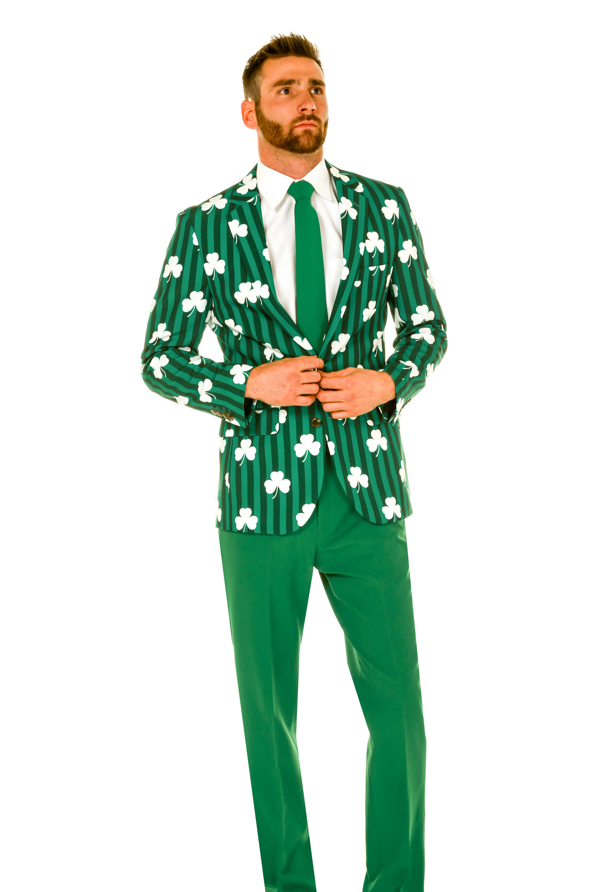 a3fd5f1d Green Shamrock Blazer & Pants | The Drunken Lad St. Patrick's Day Suit