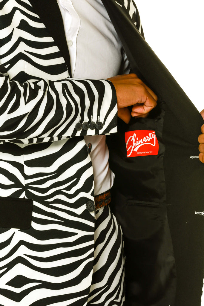 Men's Zebra Print Blazer by Shinesty