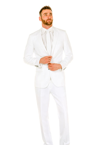 Men's White Suit by Shinesty