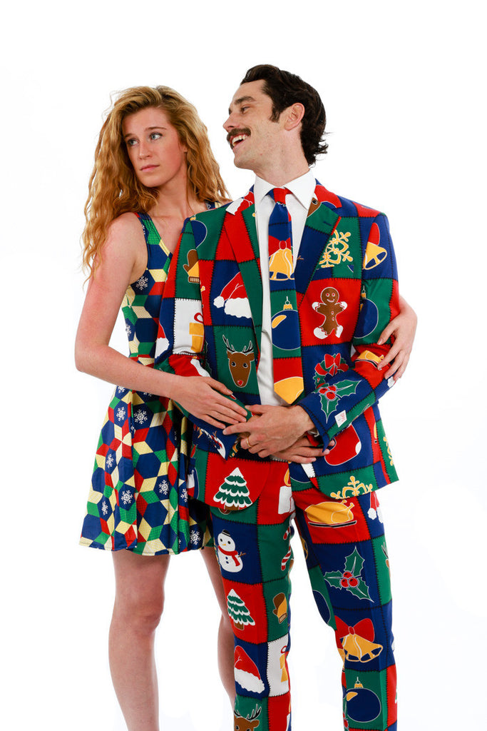 The Holiday Mosaic Ugly Christmas Dress