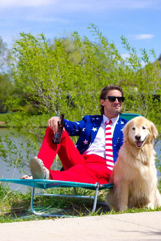 The Merican Gentleman American Flag Dress Suit by Opposuits