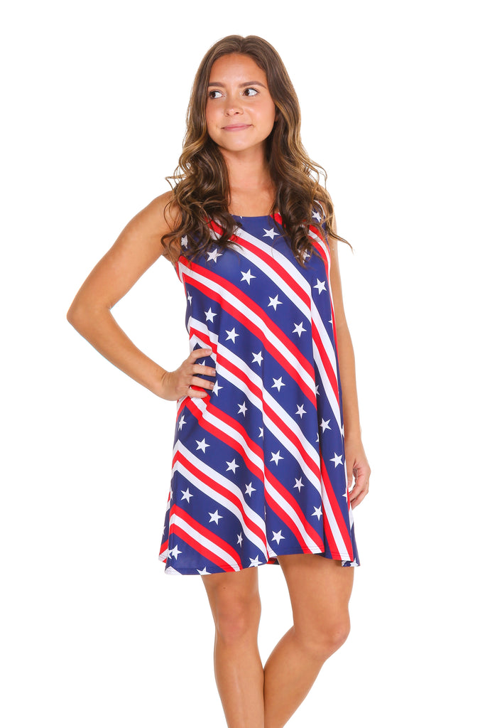 THE VERSATILE VIXEN WOMENS AMERICAN FLAG DRESS. American Flag Dress · Red  white and blue dress · Stars and stripes dress a4e4524fb
