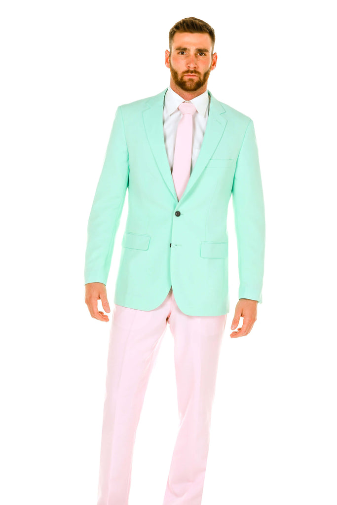 The Life Coach | Men's Mint Green & Pink Pastel Suit