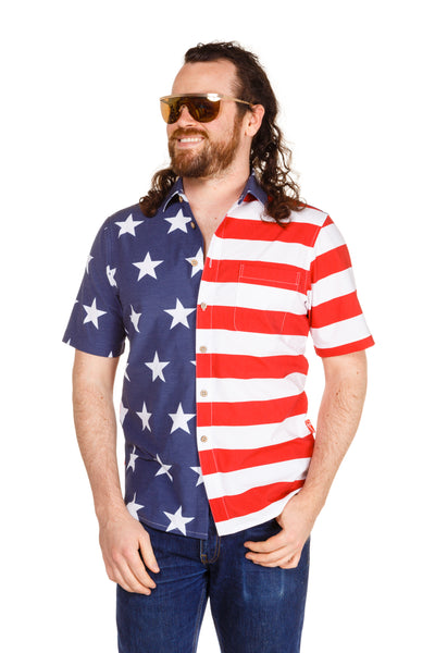 usa flag hawaiian shirt