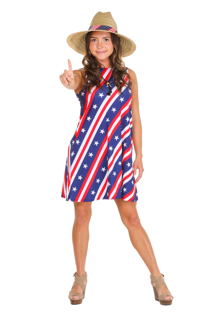 THE VERSATILE VIXEN WOMENS AMERICAN FLAG DRESS. American Flag Dress a5c45f994