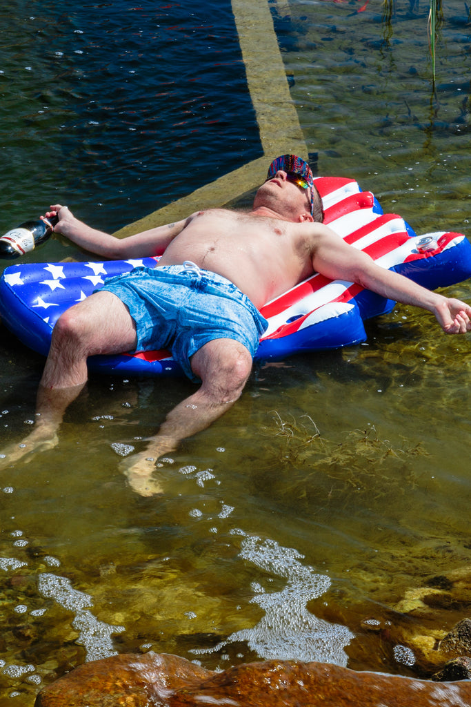The American Flag Pool Float For One
