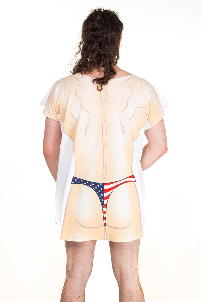 291f630ea1 USA thong shirt. American Flag Thong shirt