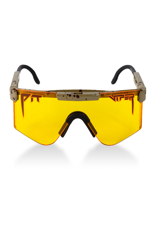 Yellow lens pit viper sunglasses