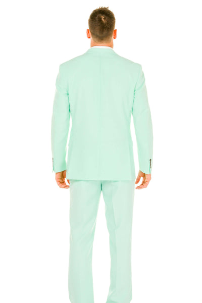 Men's pastel green derby suit