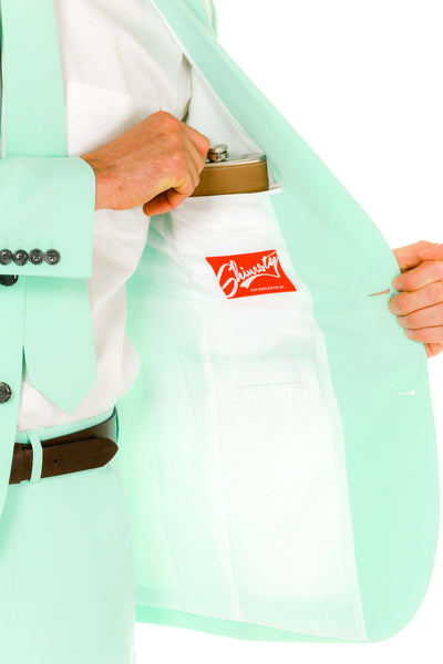 Men's mint green pastel suit