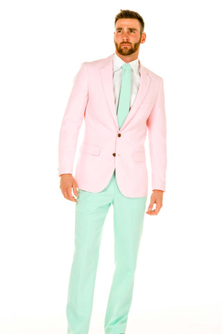 Men's Pink and Mint Green Easter Suit