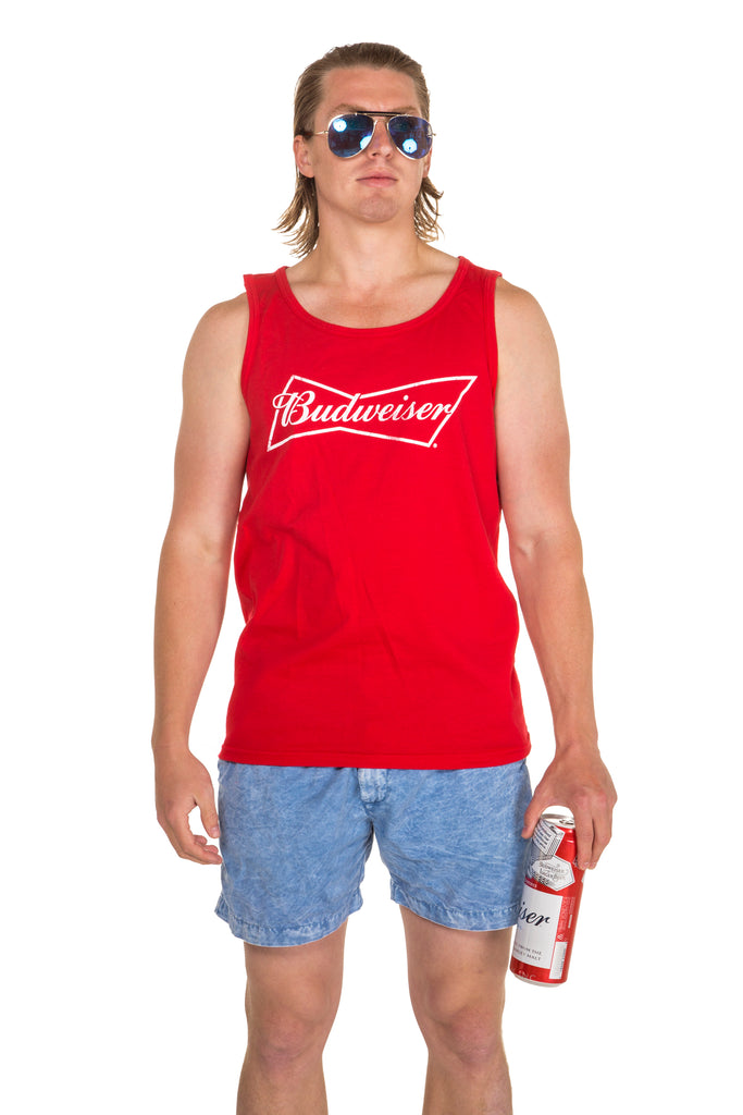The Basic Bro Red Budweiser Logo Tank