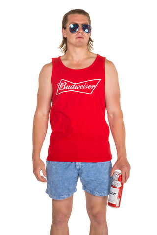 Men's Red Budweiser tank top