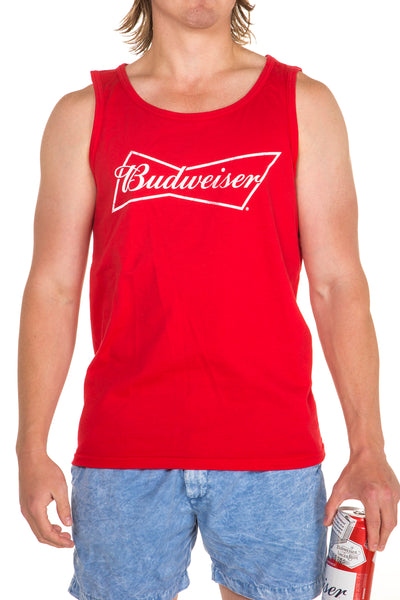 Men's Red Budweiser Shirt