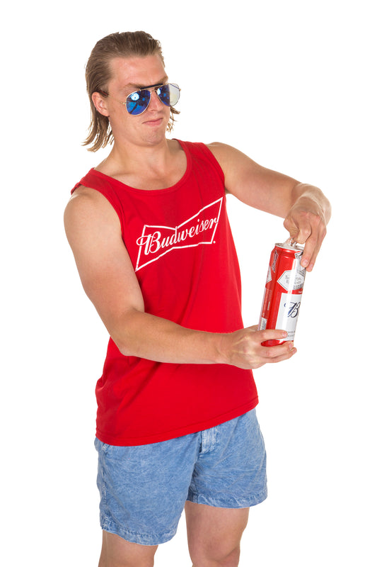Men's Red Budweiser tank