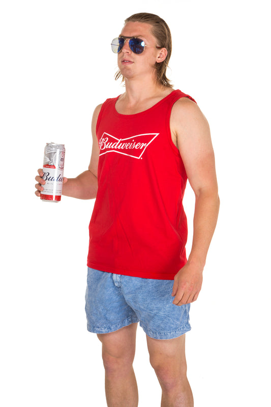 Red budweiser tank top