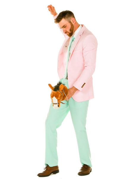 Men's Pink and Mint Green Easter Suit by Shinesty