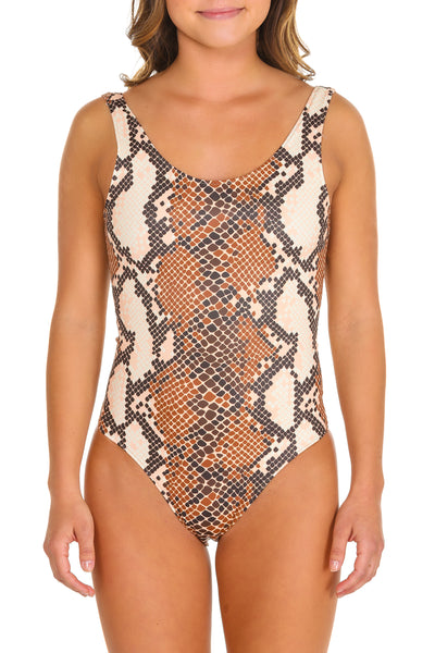 snake one piece swimsuit