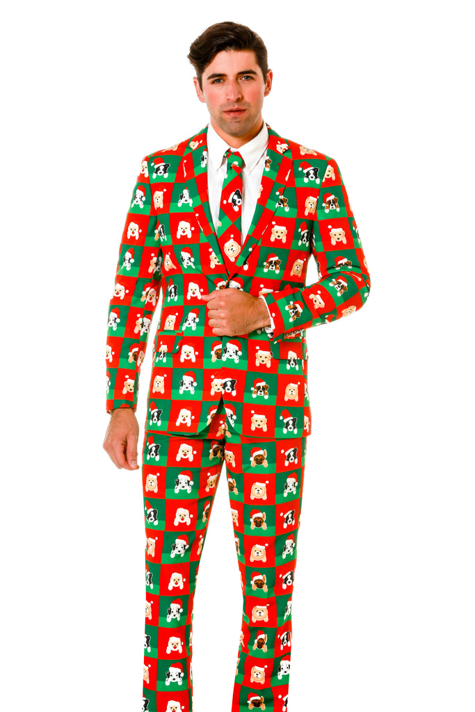 puppy style ugly christmas sweater suit - Christmas Sweater Suit
