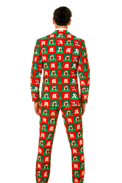 Puppy Style Ugly Holiday Suit For Men