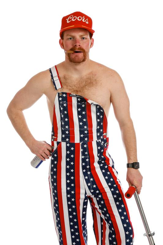 The Yosemites Overalls | American Flag Overalls